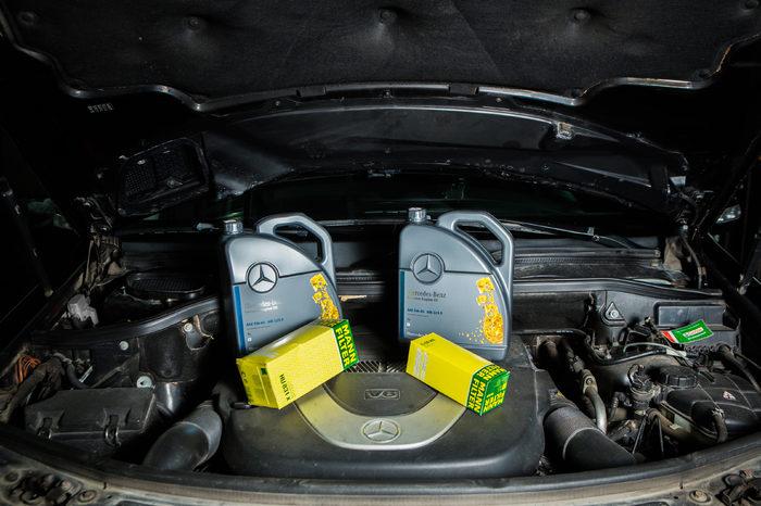 Техническое обслуживание, замена масла на Mercedes GLC